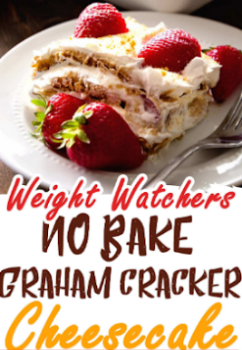 Weight Watchers No Bake Graham Cracker Cheesecake