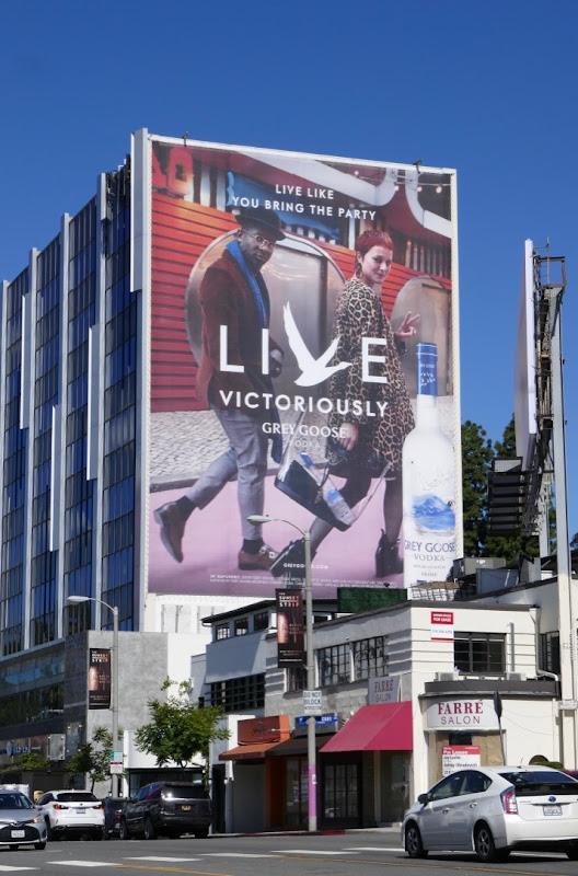 Live Victoriously Grey Goose Vodka billboard