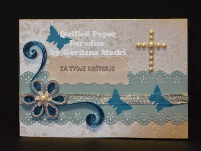 krštenje čestitke Quilled Paper Paradise: Čestitke za krštenje   Cards for Christening krštenje čestitke