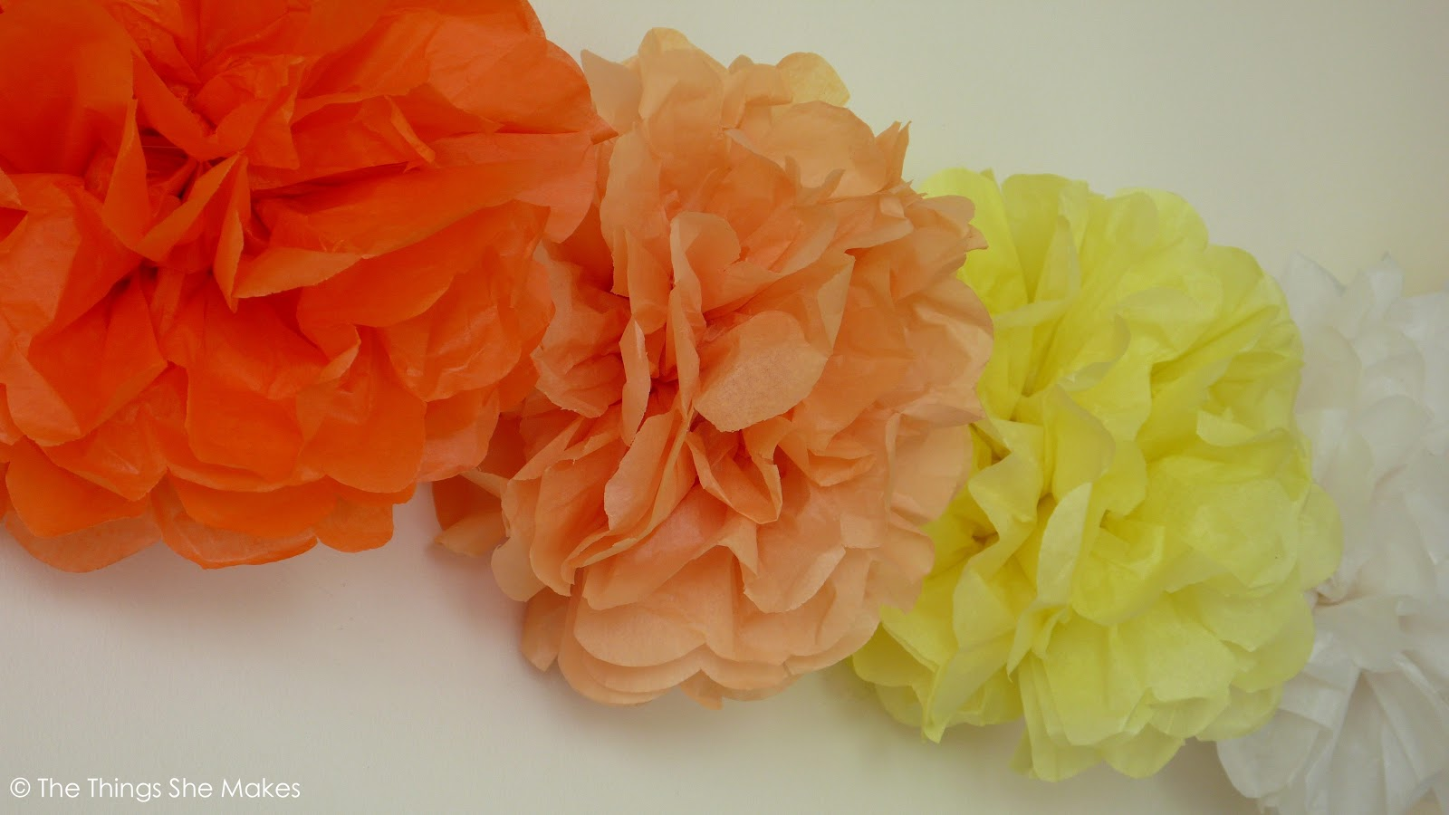 how to make tissue paper pom poms thoughtfully simple - HD1600×900