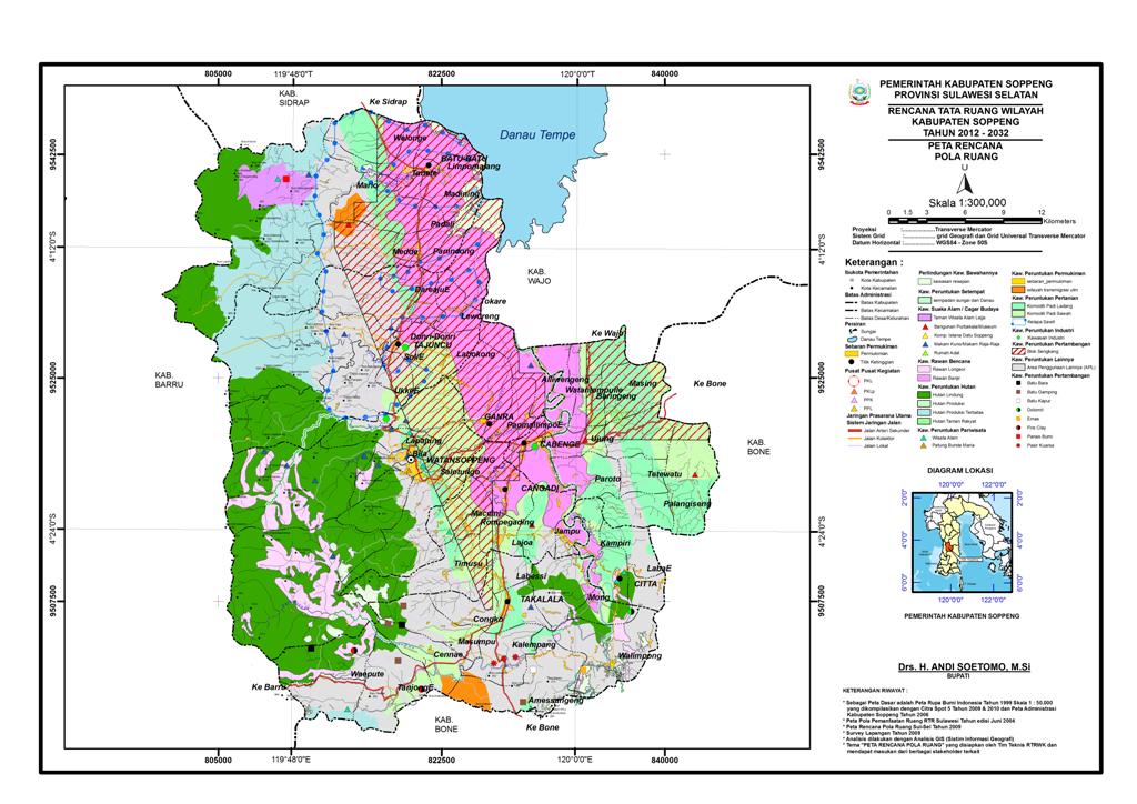 Peta Kabupaten Soppeng