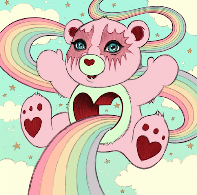 Five Points Festival 2018 Exclusive Tenderheart Care Bear Pink Variant Print by Tara McPherson