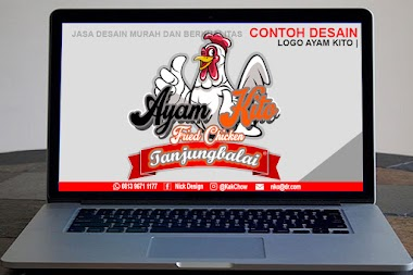 Desain Logo Ayam Kito Fried Chicken Tanjungbalai | Desain Online Murah Berkualitas