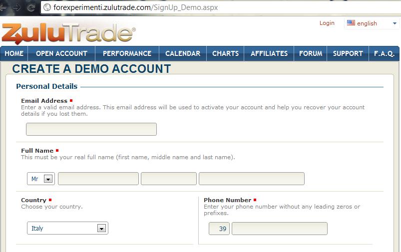 Demo account