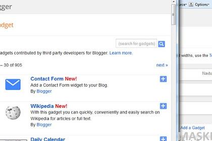 Membuat Formulir Kontak Pada Blogger