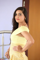 Shipra gaur in V Neck short Yellow Dress ~  044.JPG