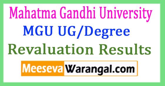 MGU UG/Degree Revaluation Results 2017