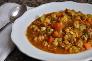Chick Pea Stew with Moroccan Spices