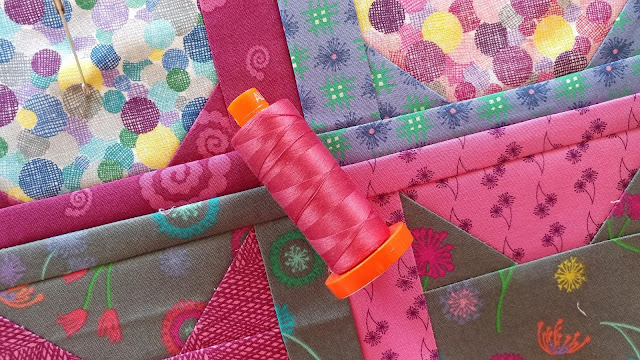 Aurifil thread for quilting kitty cat quilt