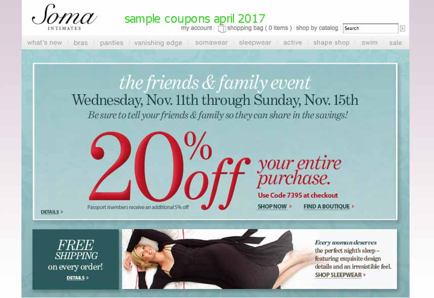 Soma coupons discounts