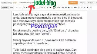 postingan blog