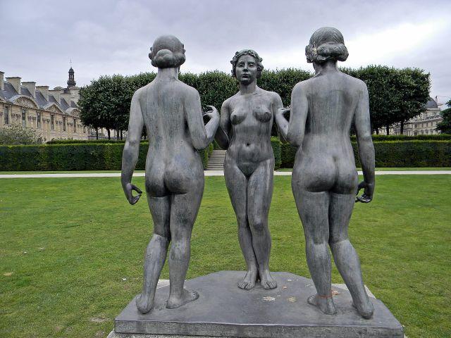 Paryż, rzeźba, sztuka