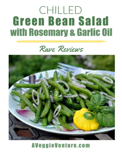Chilled Green Bean Salad with Rosemary & Garlic Oil, another healthy summer salad ♥ AVeggieVenture.com. Vegan. Low Carb. WW Friendly.