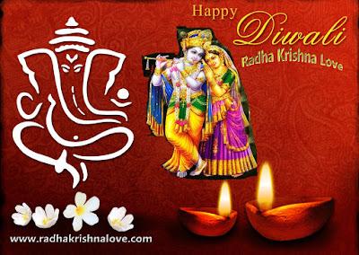 Radha Krishna Diwali Images Download