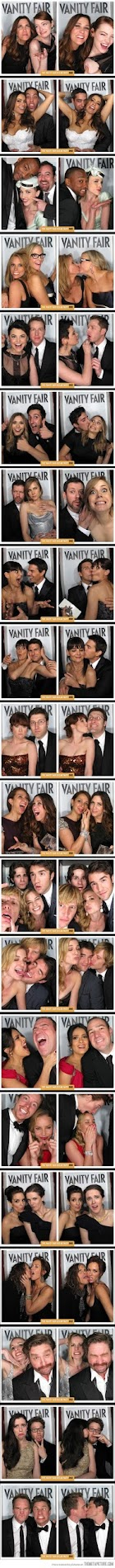 photo booth pictures from the vanity fair oscar party