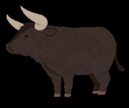 オーロックスのイラスト(牛)