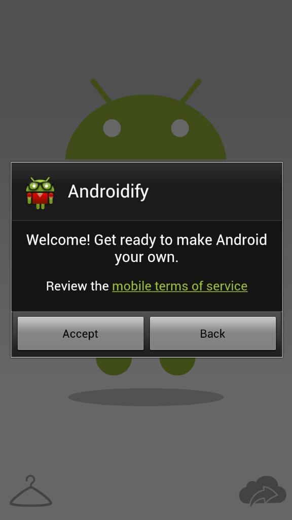 Androidifyの起動画面