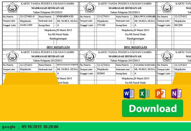 Aplikasi NO UM DAN UAMBN dengan Microsoft Excel - Download