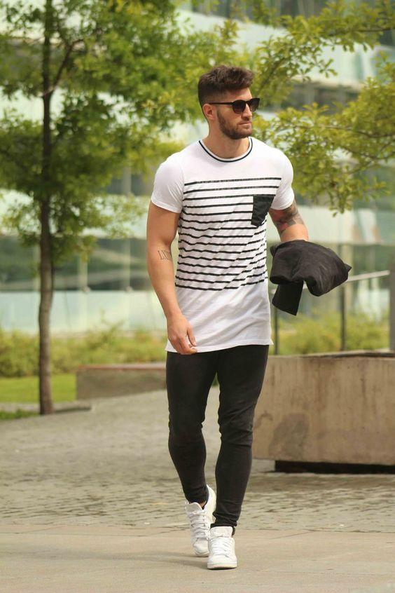 Look Masculino com camiseta oversized