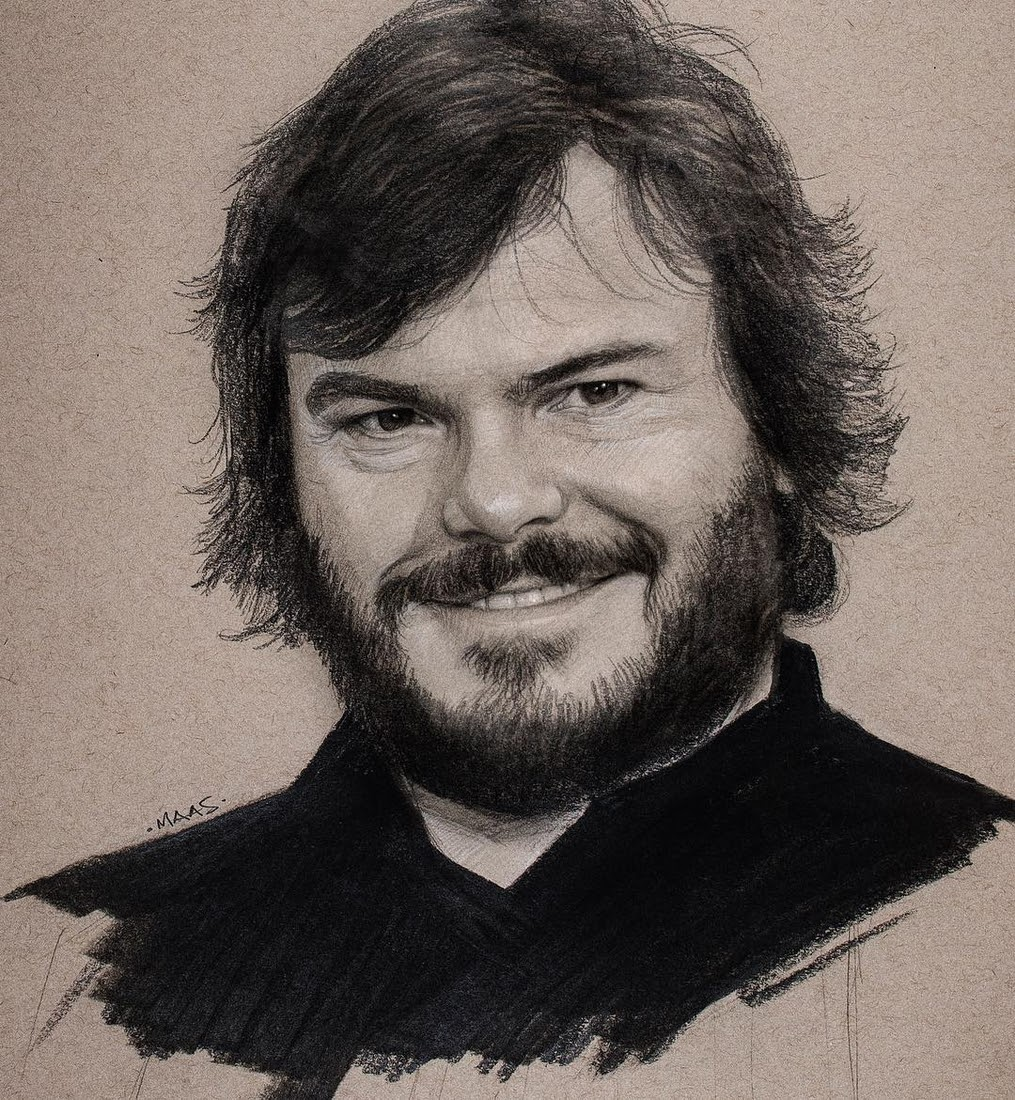 06-Jack-Black-Justin-Maas-Pastel-Charcoal-and-Graphite-Celebrity-Portraits-www-designstack-co