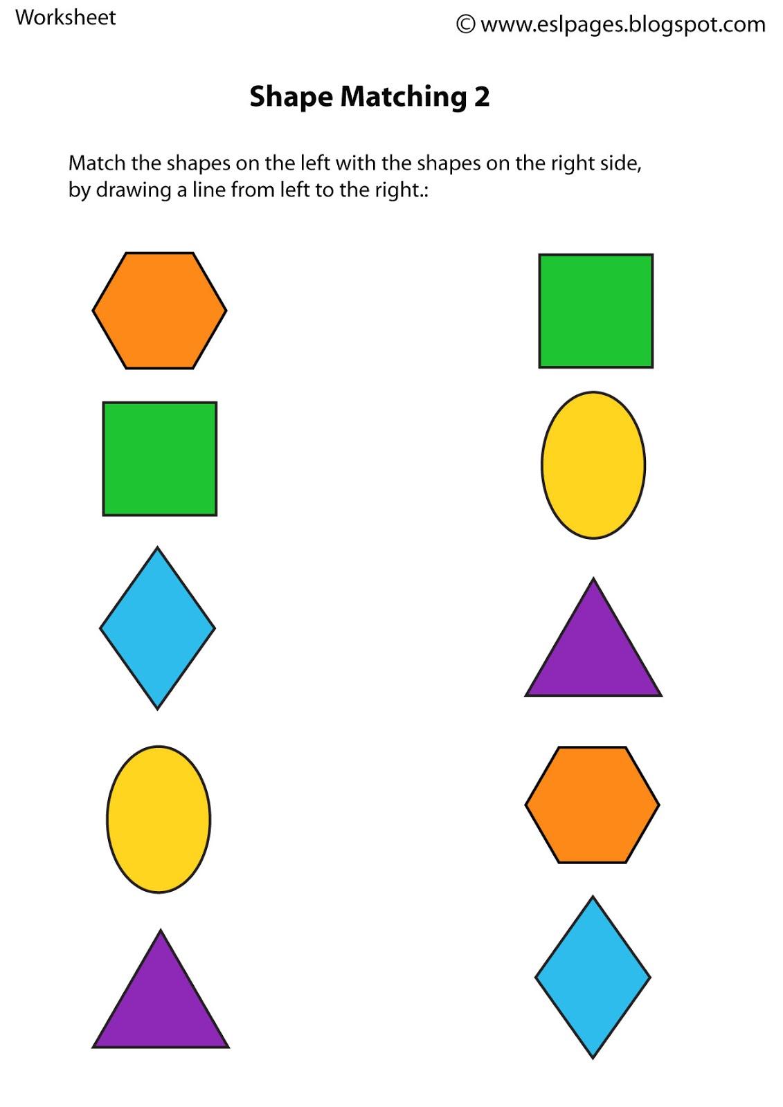 Worksheet Matching Same Color