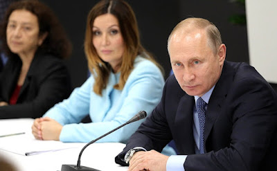 Vladimir Putin at a meeting with representatives of socially oriented non-profit organizations, charity foundations, volunteer movements and social entrepreneurs.