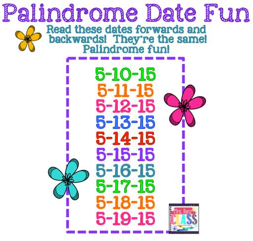 Mrs. Renz' Class: Palindrome Date Fun!