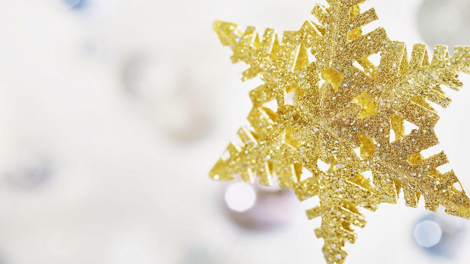 Fondos De Pantalla Para Navidad: Fondo De Pantalla Navidad Copo De Nieve Dorado