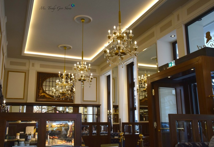 Cafe Mozart: Vienna's old town intoxicates visitors with its grandiose architecture! | Ms. Toody Goo Shoes #cafemozart #vienna #austria #danuberivercruise