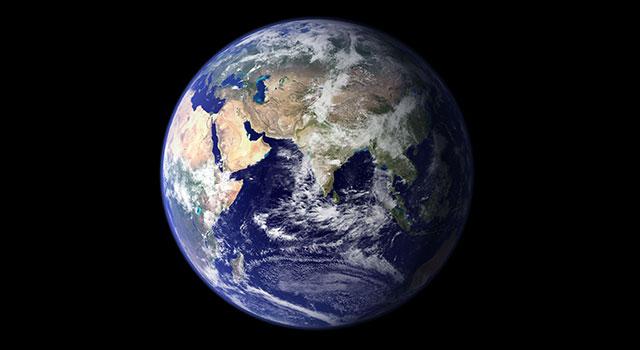 الارض  من الفضاء