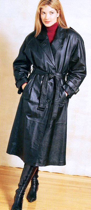 Leather Coat Daydreams: The standard women's leather trench coat