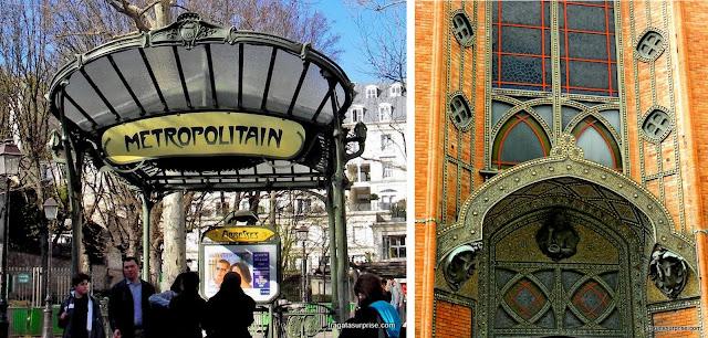 Art Noveau em Montmartre: Estação Abbesses do Metrô e a Igreja de Saint-Jean de Montmartre