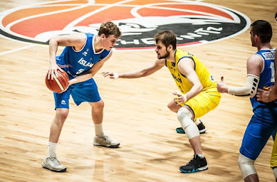 FIBA U20 Europe İzlanda - Ukrayna Jon Arnor Sverrisson