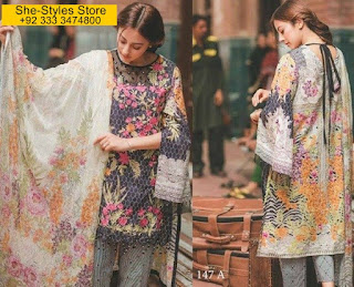 Rang Rasiya Carnation Eid Collection 2017-18