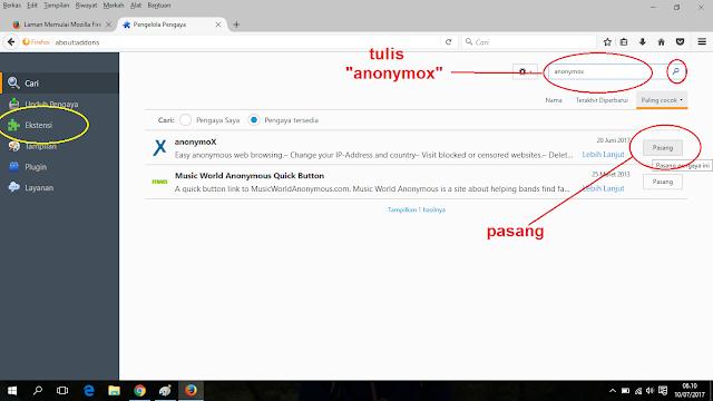 Buka Situs Terblokir Dengan Anonymox