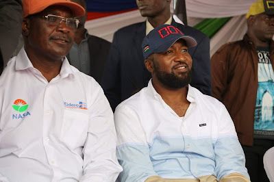 Governor Kidero and Joho at Jacaranda grounds. PHOTO | Courtesy