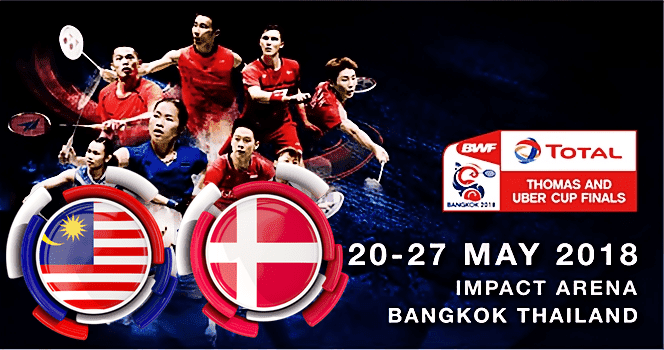 Live Streaming Piala Thomas Malaysia vs Denmark [23.Mei.2018]