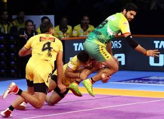 Pro Kabaddi Season VI: Telugu Titans beat Patna Pirates 35-31