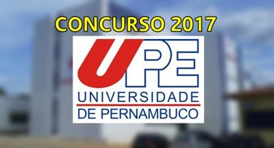 concurso Universidade de Pernambuco UPE 2017