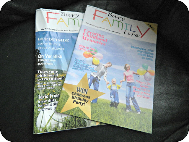 The first two issues of Bury Family Life magazine