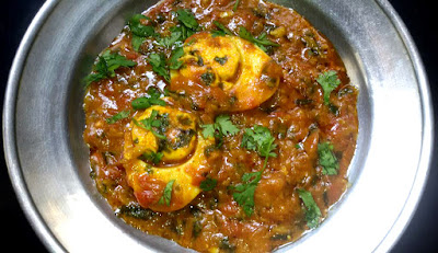 Spicy and Tangy Egg Masala Curry