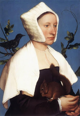 portrait of a lady with a squirrel
