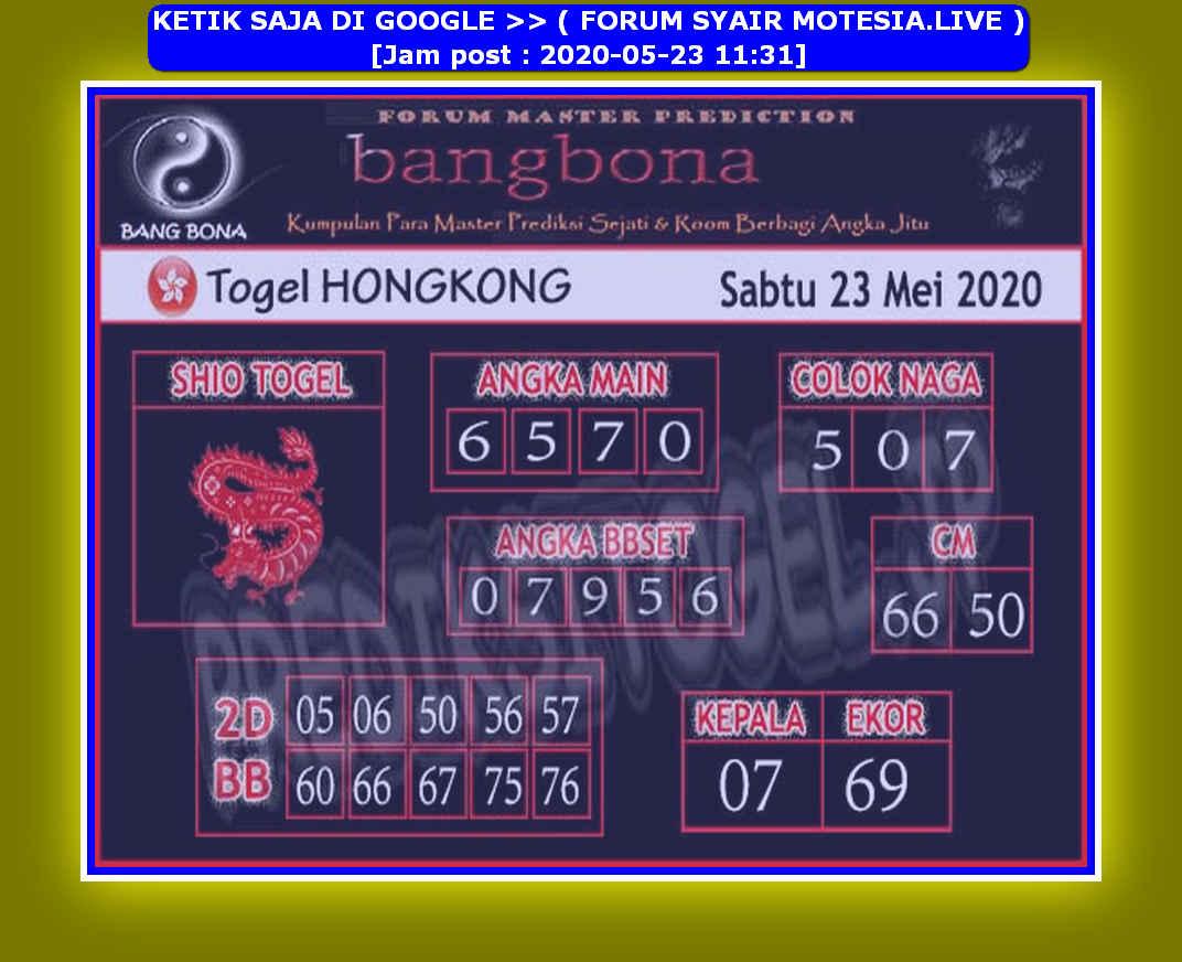 Kode syair Hongkong Sabtu 23 Mei 2020 148