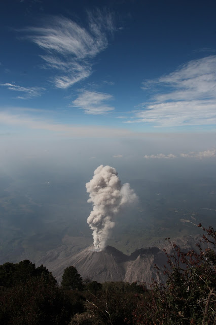 view from santa maria volcano in guatemala