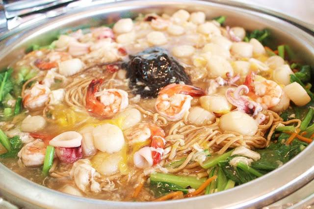 Fatt Choi Scallop Meat Yee Foo Noodles