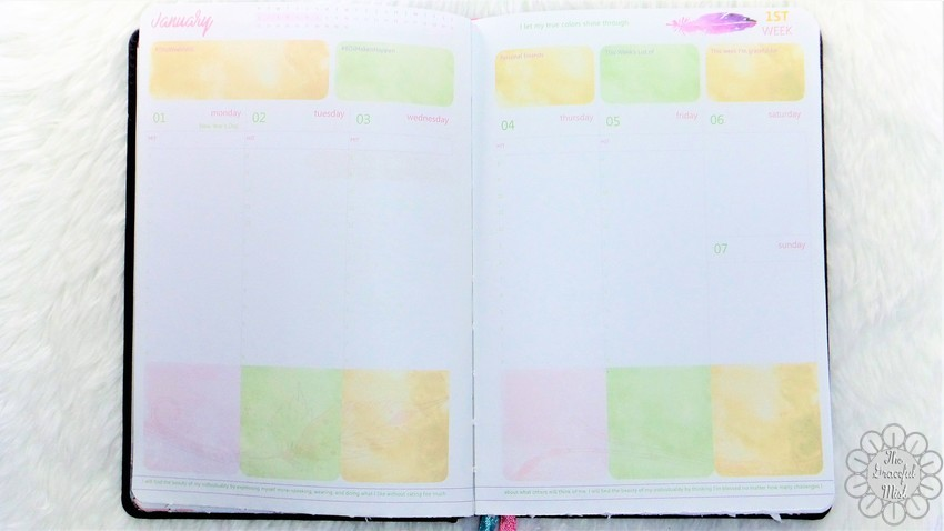 A Close-up Look inside a Filipino Lady`s Planner: 2018 Belle De Jour Power Planner | First Impressions and Reviews | January 2018 | Weekly Planner Pages | by +The Graceful Mist (www.TheGracefulMist.com) Top Beauty, Books, Health, Fashion, Life, Lifestyle, Style, and Travel Blog/Website - by Filipino/Filipina/Pinay - Blogger/Freelance Writer in Quezon City, Metro Manila, Philippines
