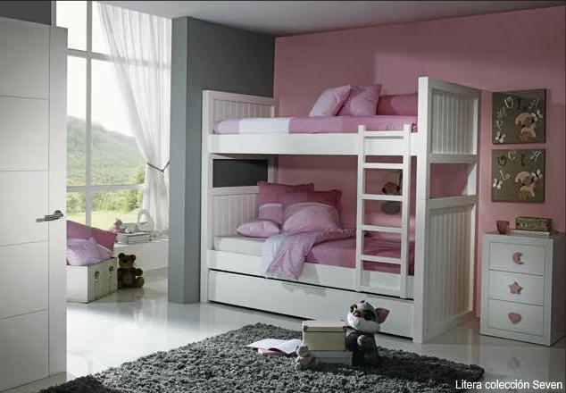 Dormitorios habitaciones juveniles e infantiles lacadas - Camas blancas ...