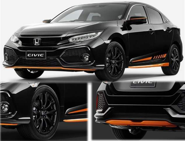 Honda-civic-Hatchback-Orange-edition-2017