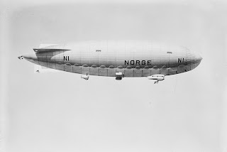 The Norge airship was designed by Umberto Nobile and became the first aircraft to fly over the North Pole