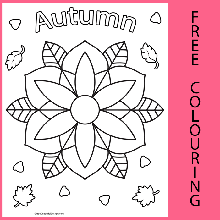 Autumn Mandala: Free Colouring Page
